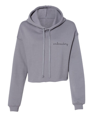 Ladies' Cropped Fleece Hoodie