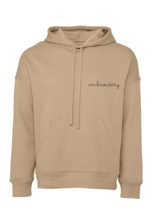 Adult Supersoft Classic Hoodie (Unisex) juju + stitch Adult XS / Tan custom personalized script embroidered hoodie