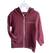 Big Kids Zip Fleece Hoodie juju + stitch Youth S (8) / Tri Burgundy custom personalized script embroidered zip-up fleece sweatshirt