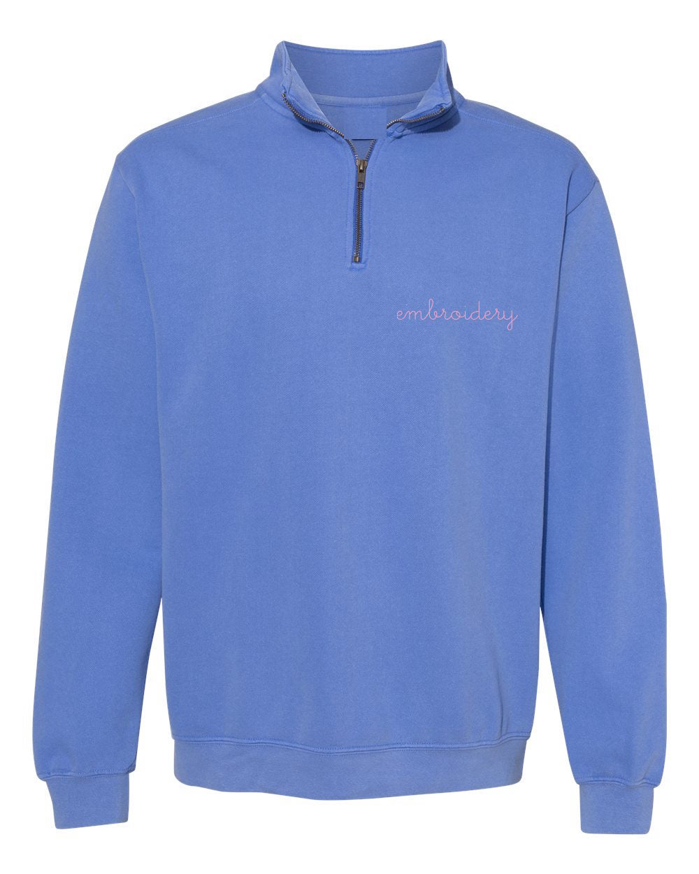 New! Adult Vintagewash Half Zip Fleece (Unisex)