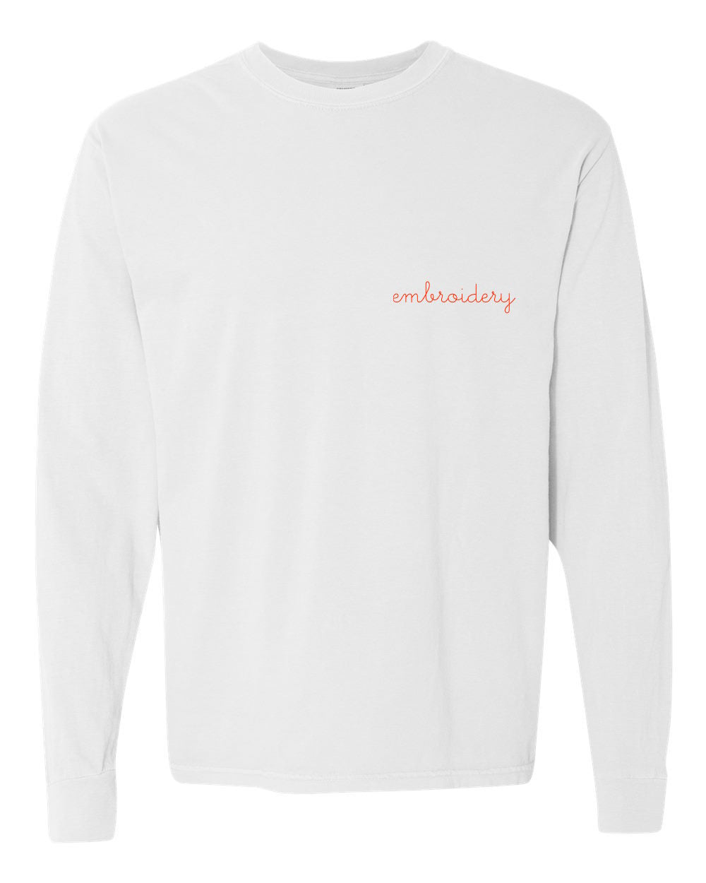 Adult Vintagewash Longsleeve Shirt (Unisex) juju + stitch Adult S / White custom personalized script embroidered longsleeve shirt