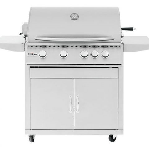 "Summerset Siz 32"" 4-Burner Freestanding Liquid Propane Grill -SIZ32-LP + CART-SIZ32"