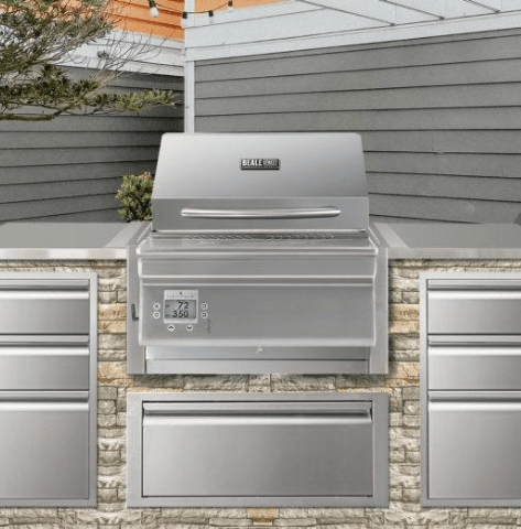 Image of Memphis Beale Wi-Fi Controlled Stainless Steel Built-In Pellet Grill - BGBS26