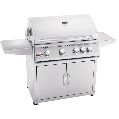 "Summerset Siz 40"" 5-Burner Freestanding Natural Gas Grill -SIZ40-NG + CART-SIZ40"