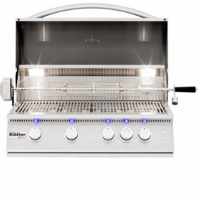 Image of Summerset Sizzler Pro 32-Inch 4-Burner Built-In Propane Grill With Rear Infrared Burner - SIZPRO32-LP