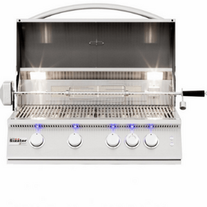 Summerset Sizzler Pro 32-Inch 4-Burner Built-In Propane Grill With Rear Infrared Burner - SIZPRO32-LP