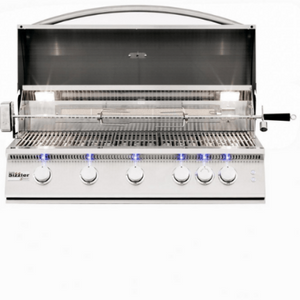 Summerset Sizzler Pro 40-Inch 5-Burner Built-In Gas Grill With Rear Infrared Burner - SIZPRO40-NG