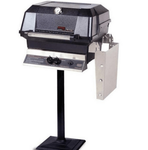 MHP JNR4DD-NS Natural Gas Grill With Stainless Steel Shelves And SearMagic Grids On Bolt Down Post  MPB
