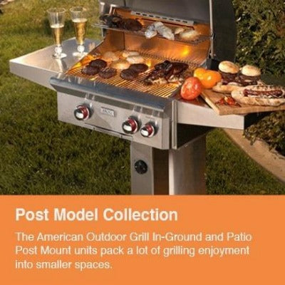 AOG L-Series 24-Inch 2-Burner Natural Gas Grill In-Ground Post - 24NGL-00SP
