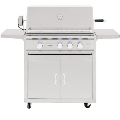 Summerset TRL 32-Series 3-Burner Natural Gas Grill With Rotisserie - TRL32-NG + CART-TRL32