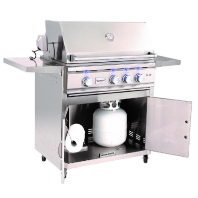Summerset TRL 32-Series 3-Burner Propane Gas Grill With Rotisserie - TRL32-LP + CART-TRL32