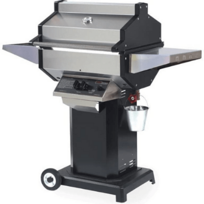 Phoenix Stainless Steel Natural Gas Grill Head On Black Aluminum Pedestal Cart - SDBOCN