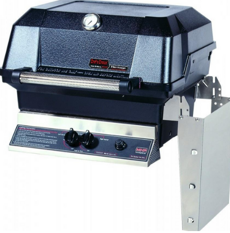 MHP Grills Liquid Propane Grill with Stainless Steel Shelves and SearMagic Grids JNR4DD-PS