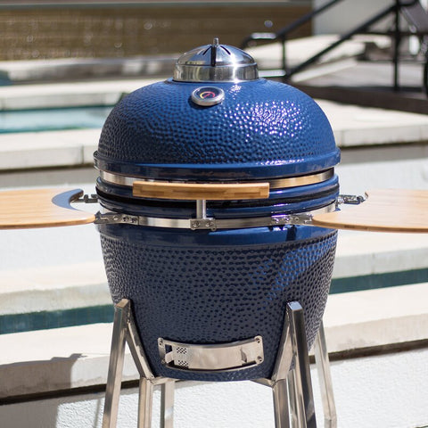 "LIFESMART ""22 Kamado Charcoal Grill with Smoker"