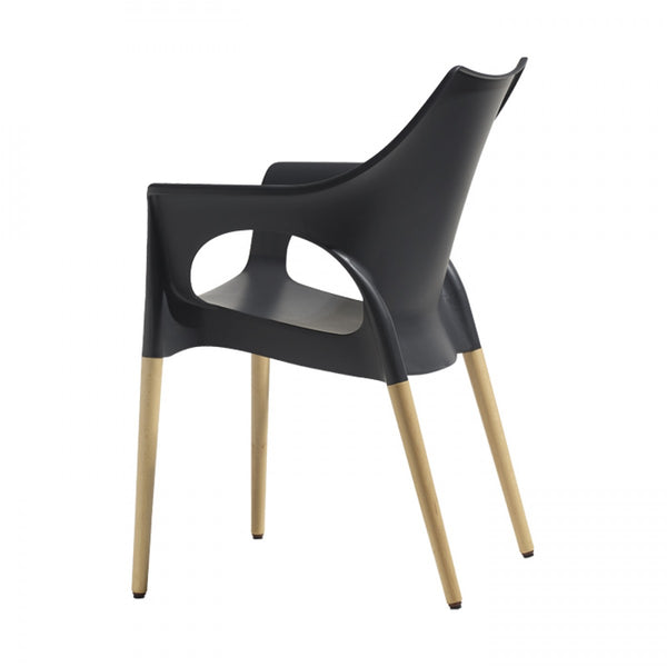 OLA NATURAL CHAIR - WOOD LEGS - Interra Designs PO