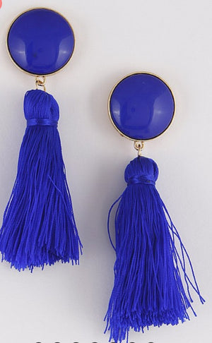 Kinsley Tassel Fringe Drop Earrings
