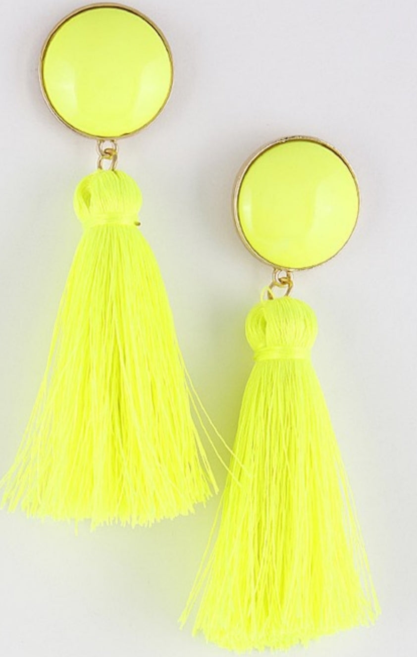 Kinsley Tassel Drop Earrings