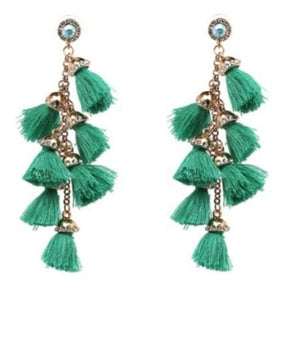 Giselle Tassel Drop Earrings