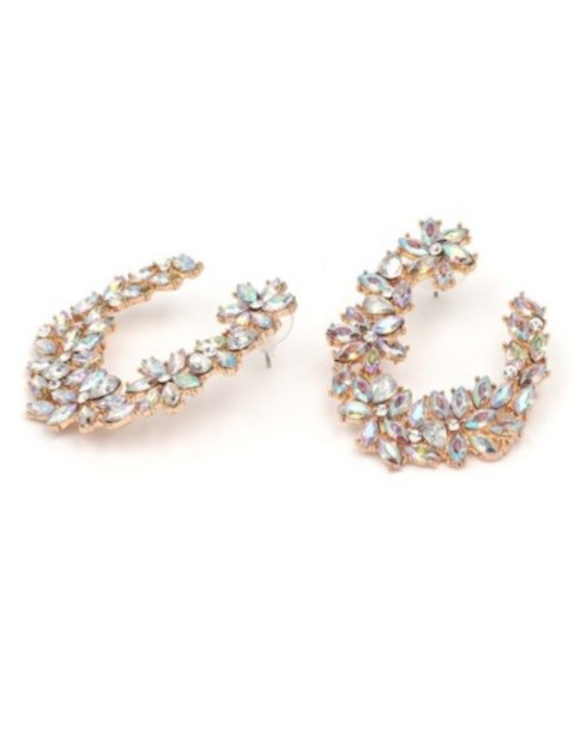 Ice Garden Hoop Earrings
