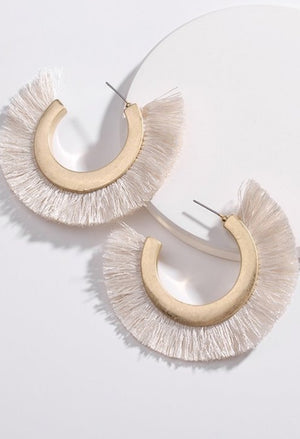 Lianne Fringe Hoop Earrings