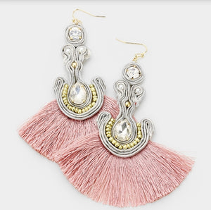 Ambrealle Fan Tassel Earrings