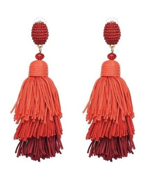 Simone Tassel Drop Earrings