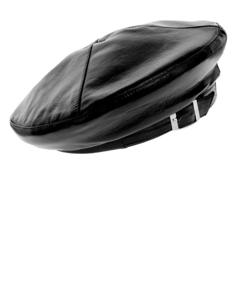 Jasmin Faux Leather Beret
