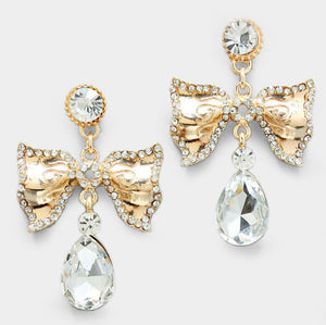 Belle Bow Drop Earrings