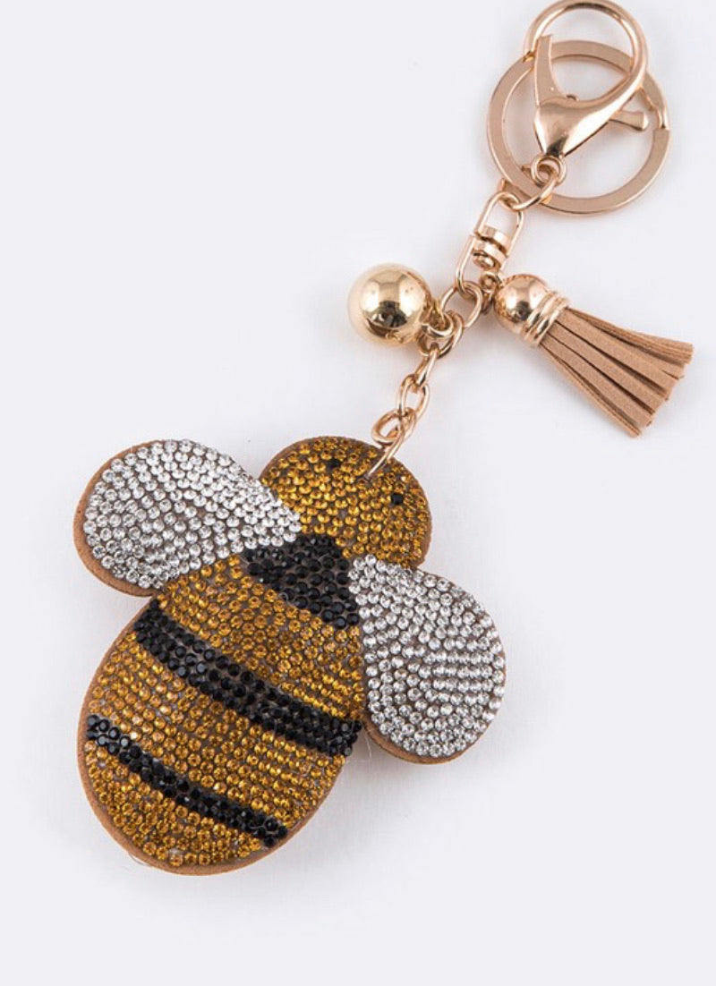 Buzz Bee Keychain/Bag Charm