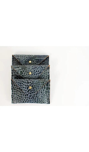 Indigo Embossed Card Wallet