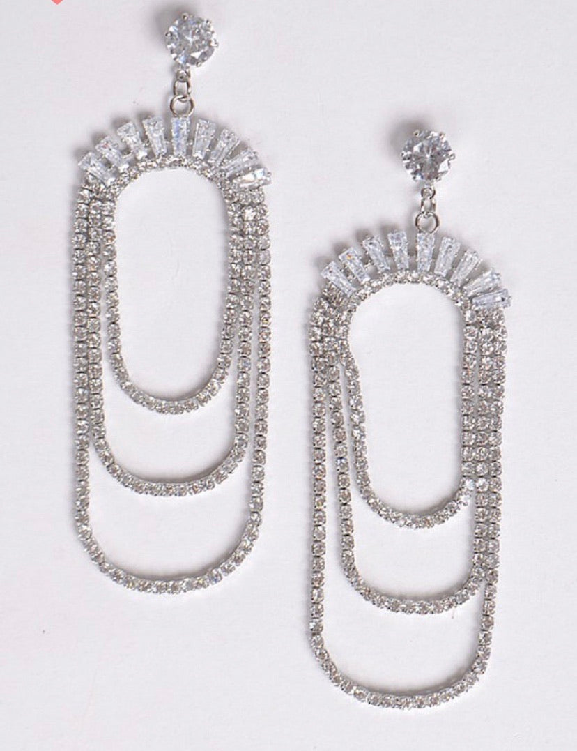 Ariane Layered Drop Earrings