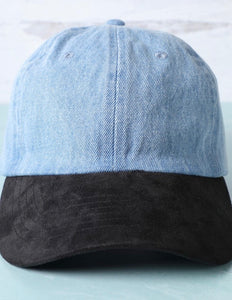 Denim & Suede Dad Hat