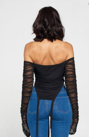 Sincere Cold Shoulder Top