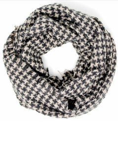 Classic Houndstooth Infinity Scarf