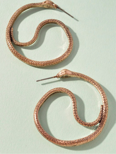 Nyoka Snake Hoop Earrings