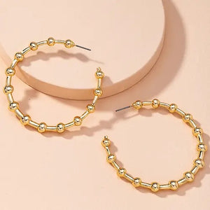 Christina Beaded Hoop Earrings