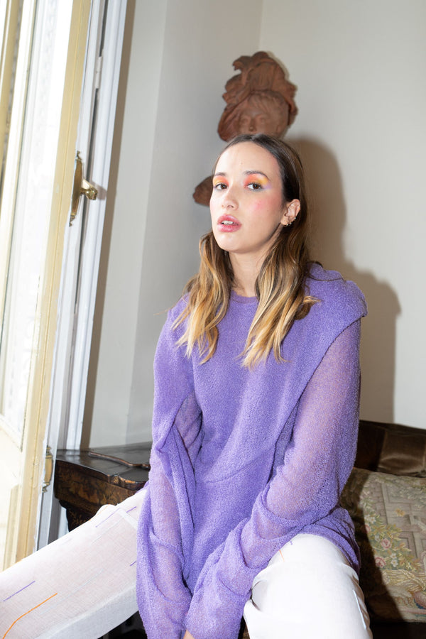 Violet Knitted Sweater