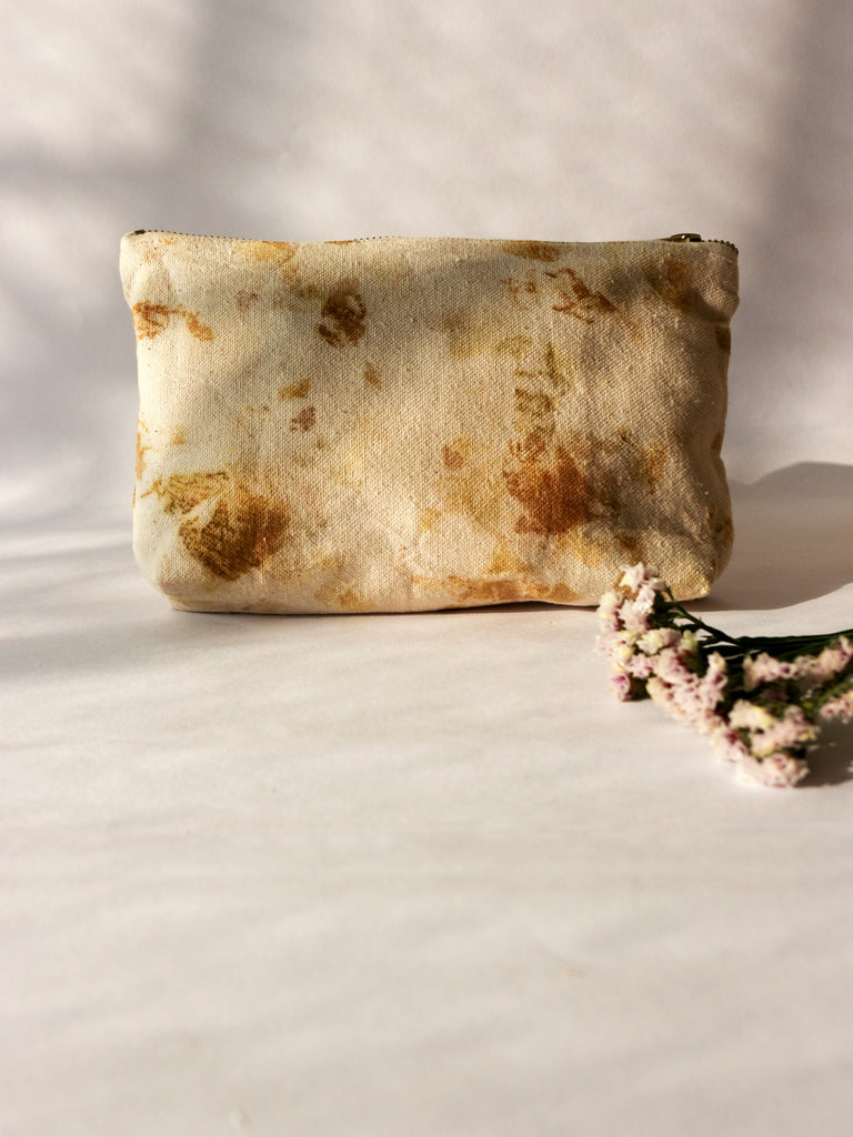 Floral Medium Pouch Green