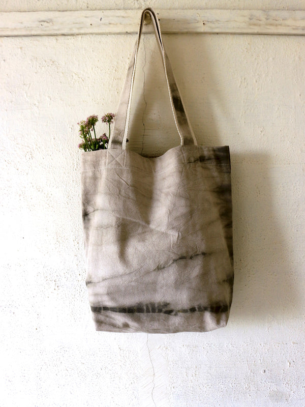 Grey Shibori Tote Bag