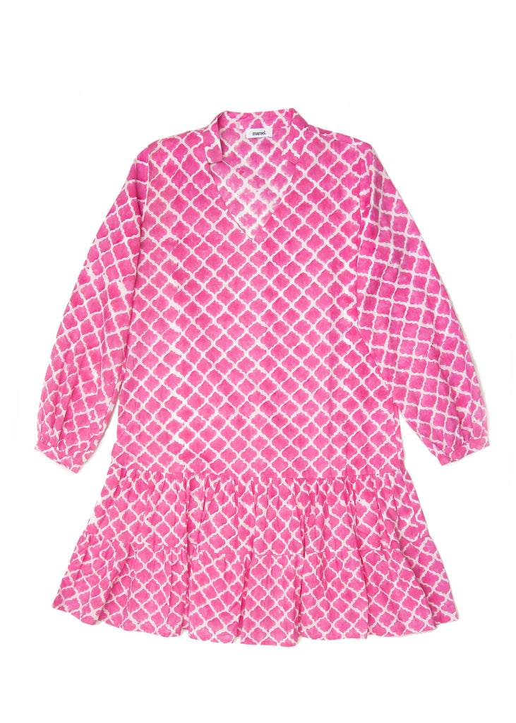 Kosi Pink Cotton Dress