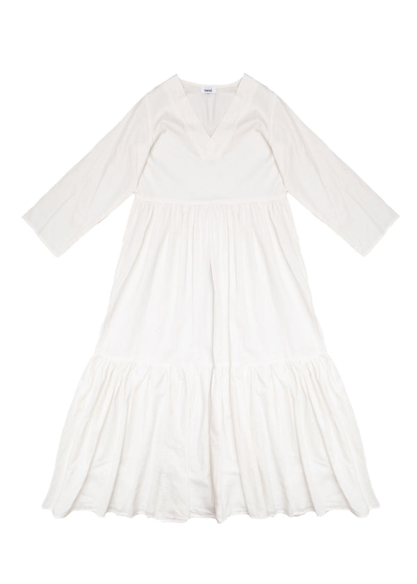 Ganges White Long Dress