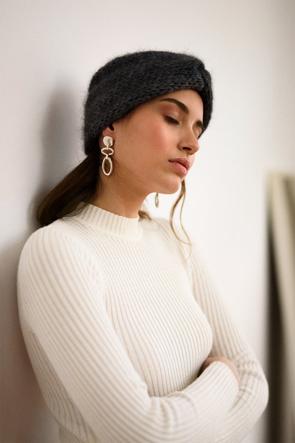 Mohair Knit Turban