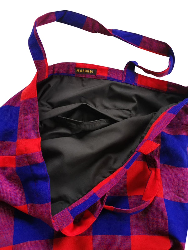 Masai Tote Bag Checked