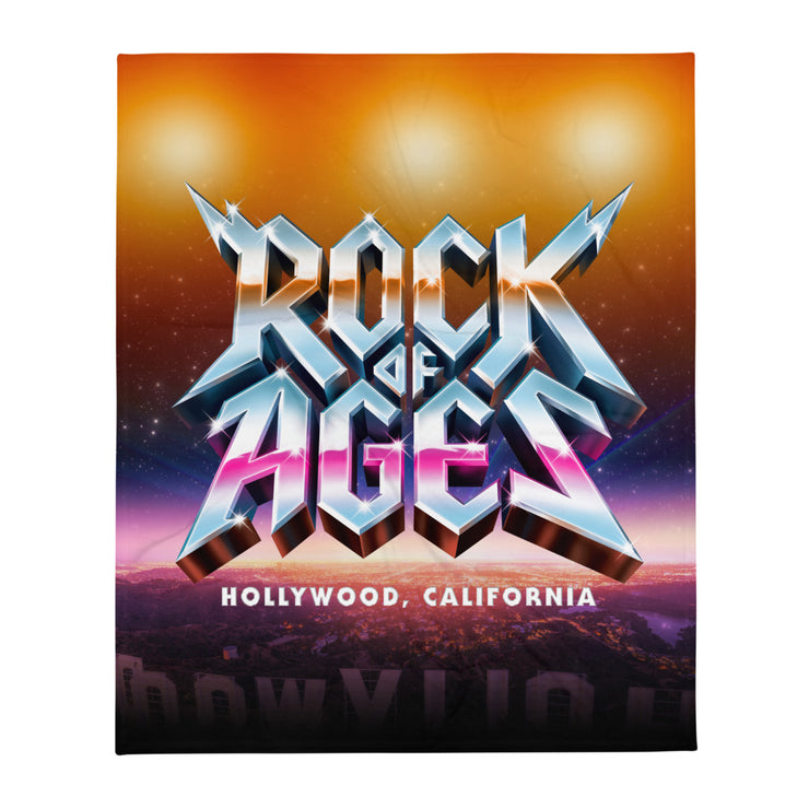 Hollywood Sunset Throw Blanket, Rock of Ages