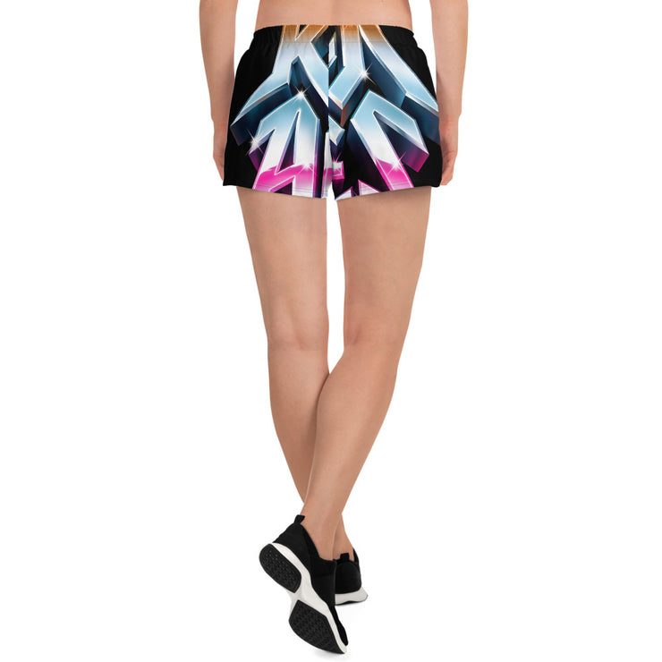 All-Over Print Women's Athletic Short Shorts, Rock of Ages Hollywood