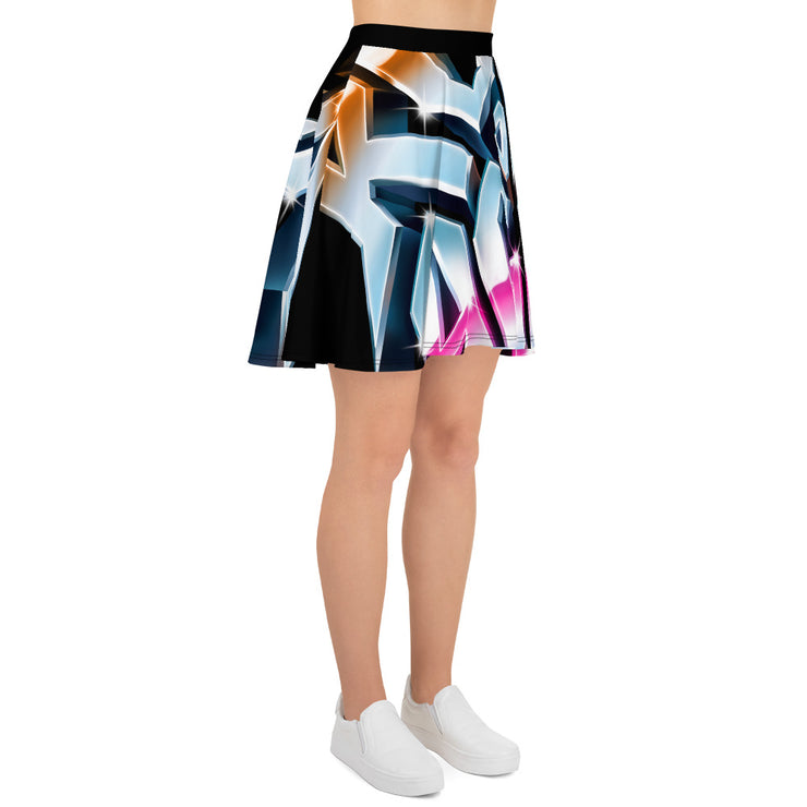 All-Over Print Skater Skirt, Rock of Ages Hollywood