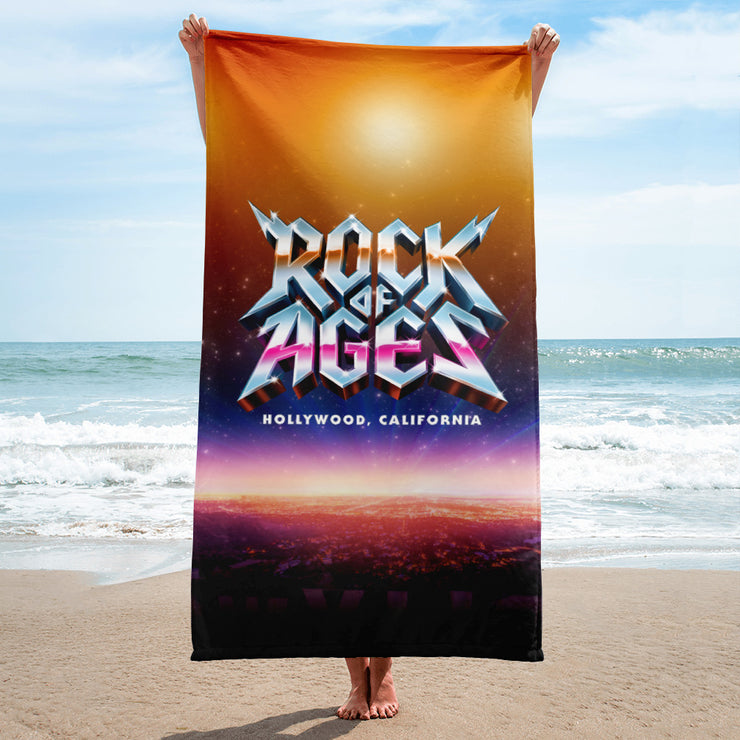 Hollywood Sunset Beach Towel, Rock of Ages