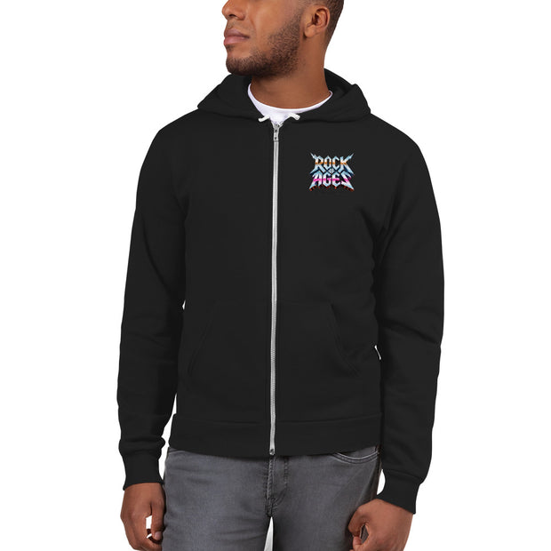 Unisex Zip Up Hoodie, American Apparel, Rock of Ages Hollywood