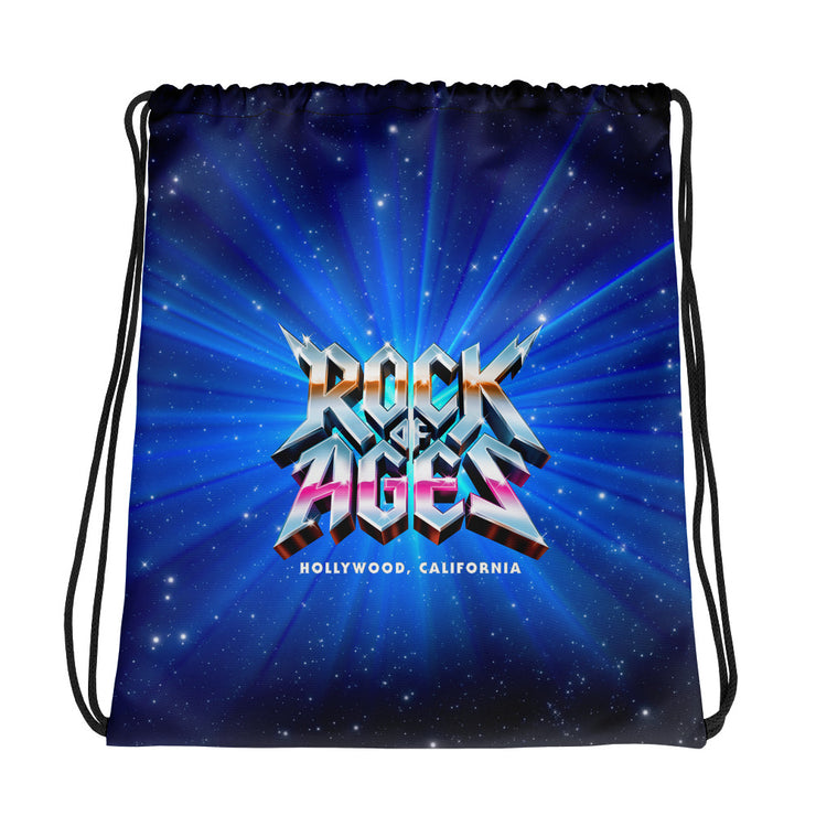Starry Night Drawstring Bag, Rock of Ages Hollywood
