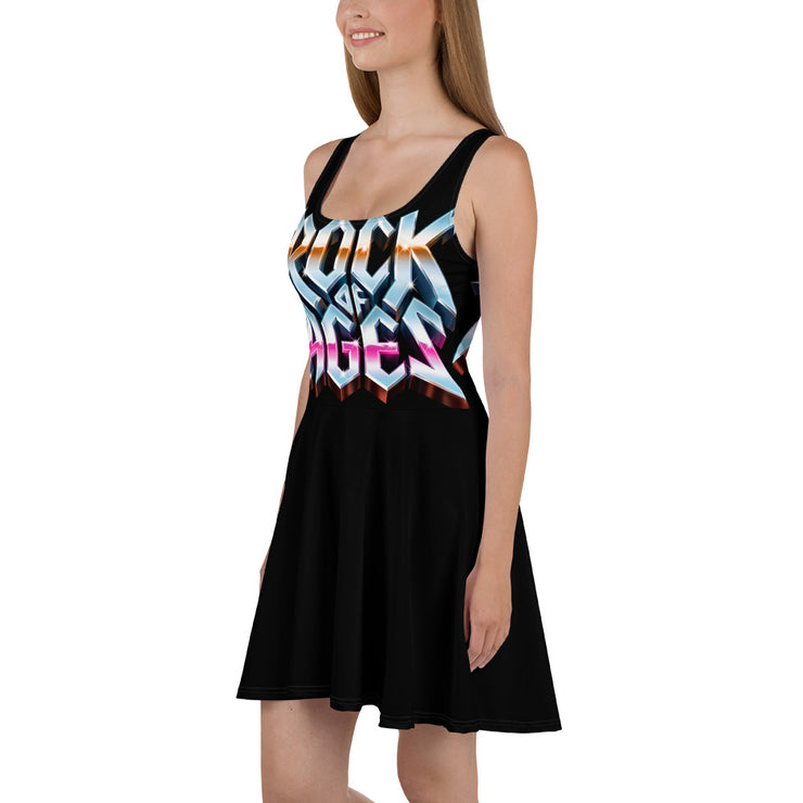 All-Over Print Skater Dress, Rock of Ages Hollywood